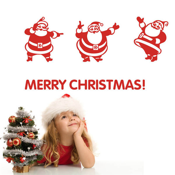 Merry Christmas Decorations Outdoor : Merry christmas outdoor decoration window stickers vinilos