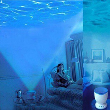 1 Piece Night Light Projector Ocean Blue Sea Waves Projection Lamp With Mini Speaker Ocean Waves Night Light(China (Mainland))