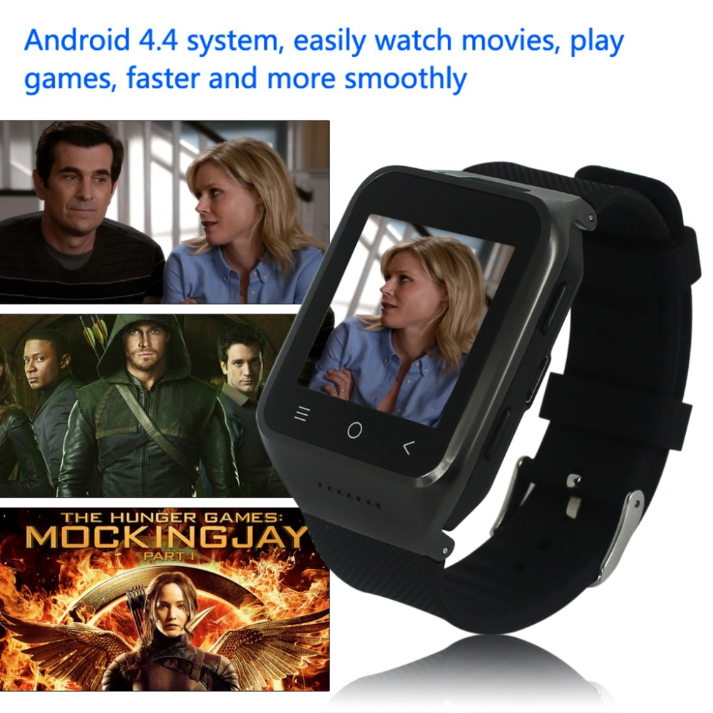 ZGPAX 1.54 Inch 3G Android 4.4 MTK6572 Dual Core Phone Watch 2.0MP Camera WCDMA GSM Smart Watch with Email GPS WIFI(China (Mainland))