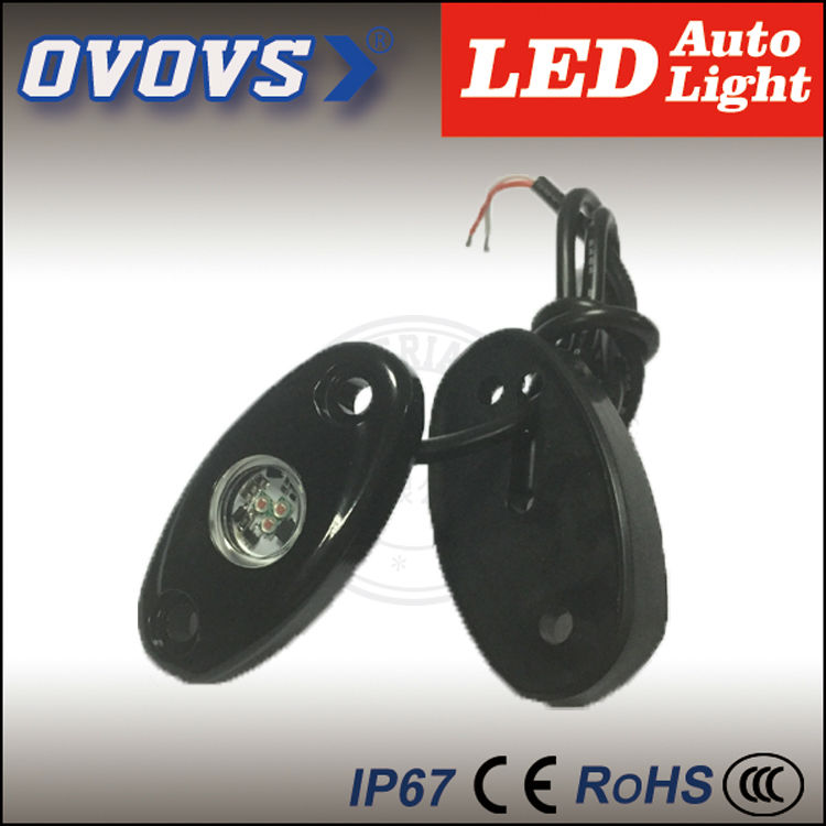 """OVOVS hot sale factory supplier 2"""" 3w led rock light for offroad truck with blue red green white yellow(China (Mainland))"""