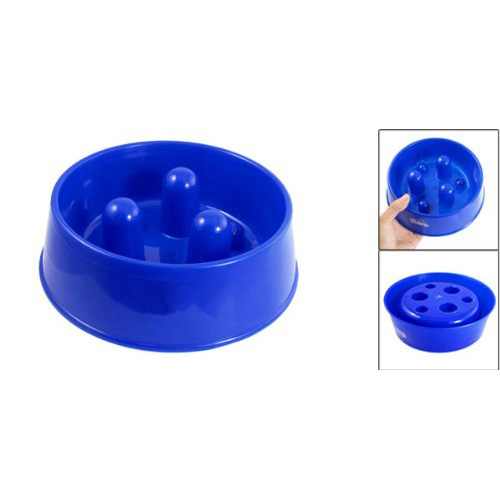 Super sell!! Small Slow Feeder No Gulp Dogs Plastic Bowl Pet Food Slow Down(China (Mainland))