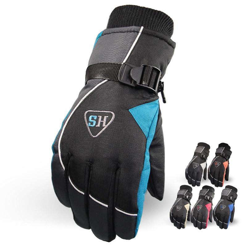 Гаджет  winter super warm ski gloves men waterproof PU anti-skid snow gloves warm cashmere skiing gloves None Спорт и развлечения