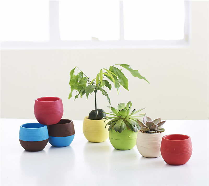 Home office decor plants pots lazy storage pot bonsai planter 3 sizes