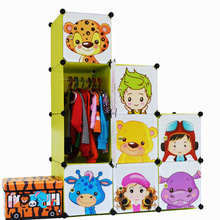 Armoire Armadio 12 Cubes Cartoon Children Diy Free Assembly Wardrobe Simple Closet Organiser Cheap Fitted Wardrobes Portable (China (Mainland))