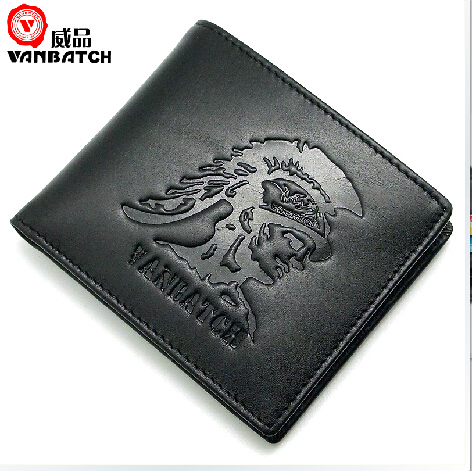 2015 New Free shipping Fashion Small Billfold & ID Flap Wallet Black Coffee Leather (China (Mainland))