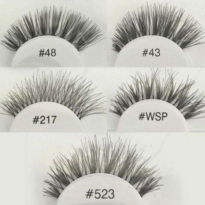 Fashion Pro soft False Fake Human Hair Eyelashes Adhesives Glamour Eye lashes Red_Cherry Makeup Beauty(China (Mainland))