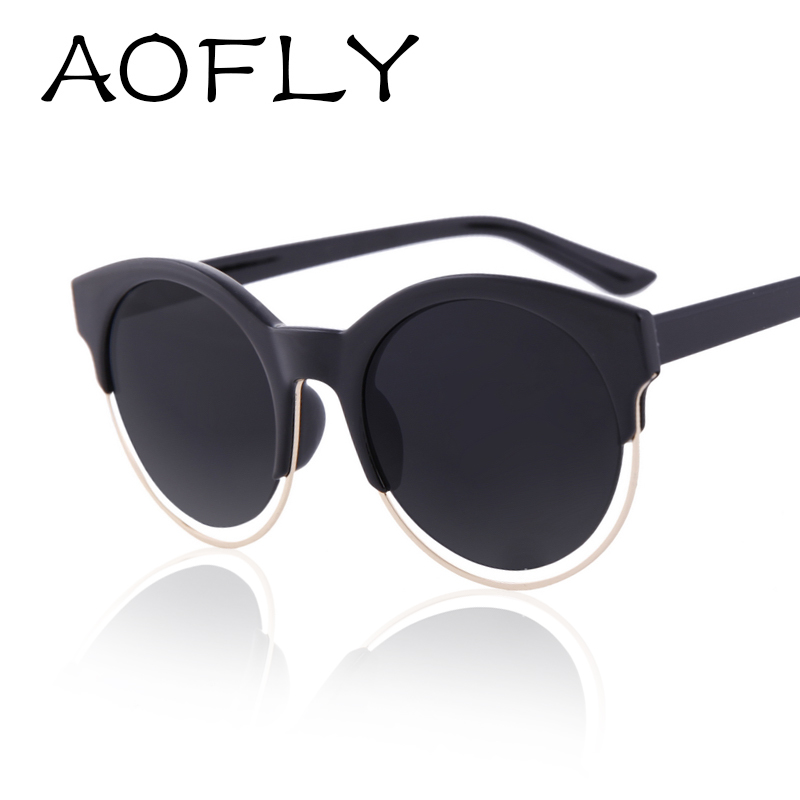 AOFLY Fashion Women SIDERAL Sunglasses Brand Design Retro Star Style Cat eye