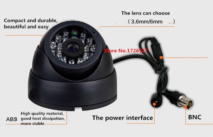 Купить Безопасность и защита   2015 HOT 1/3 Color CMOS 700TVL Indoor security CCTV camera home Video Surveillance hd night vision video mini Dome Camera  None
