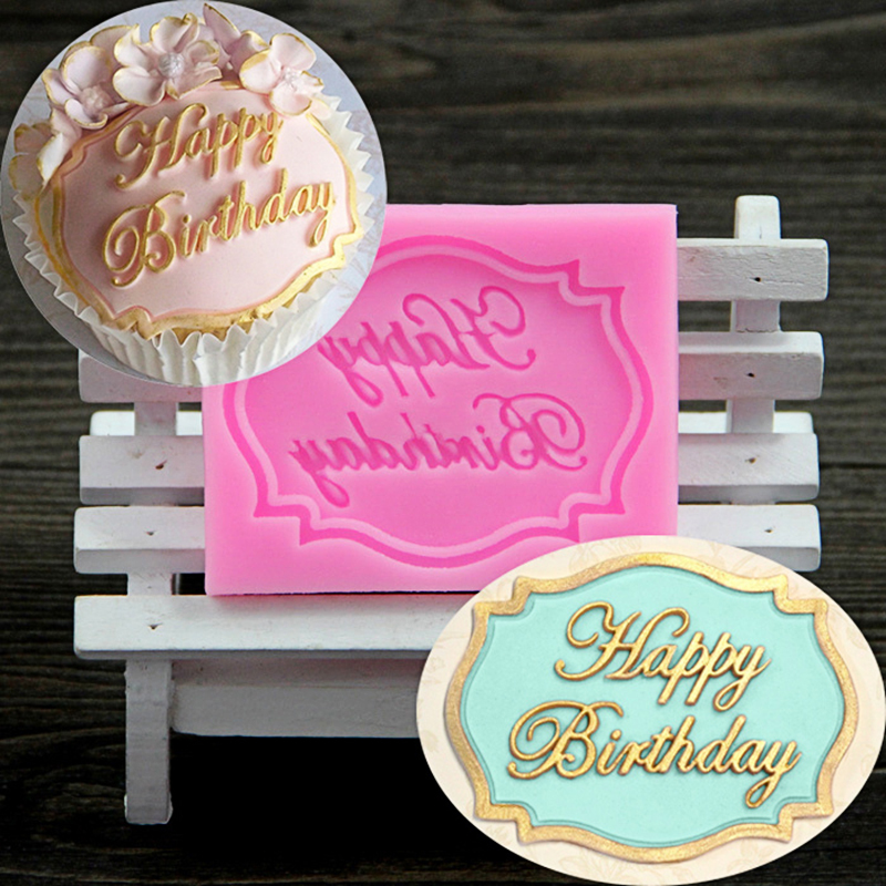 Happy Kitchen Decoration Cake: Kitchen Accessories Baking Mat Happy Birthday Sugarcraft Molds Cuppcake Cake Decorating Tools