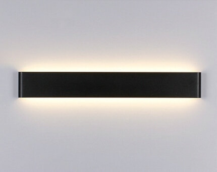 LED Wall Lamps 6w Bathroom Mirror Light 24cm White or black Aluminum 2835 Warm White wall lamp AC 85V~265V y-0013<br><br>Aliexpress