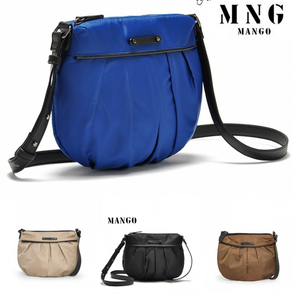 2015 Mango Bag MNG casual light pleated shoulder bag cross-body all-match women's handbag women bags 4 Color