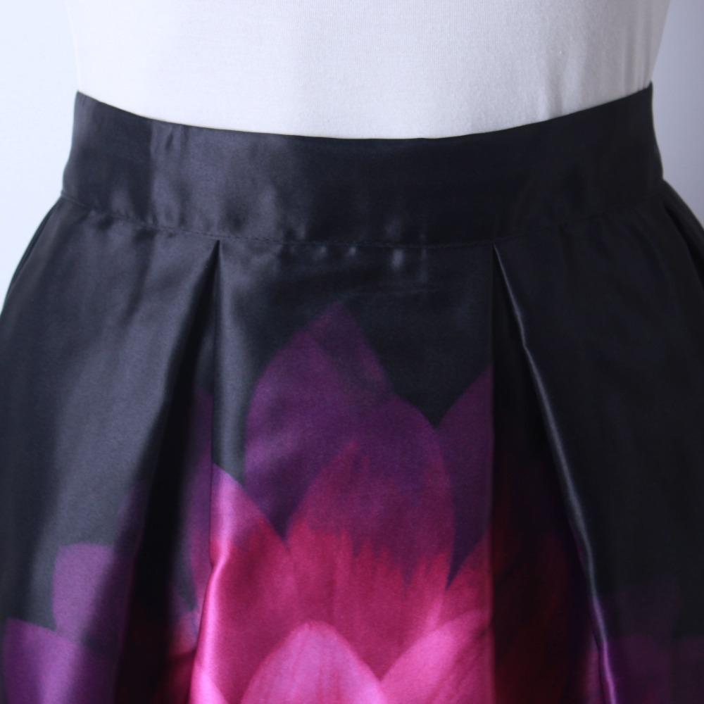 HTB1mvGHQFXXXXXSXpXXq6xXFXXXo - GOKIC 2017 Summer Women Vintage Retro Satin Floral Pleated Skirts Audrey Hepburn Style High Waist A-Line tutu Midi Skirt