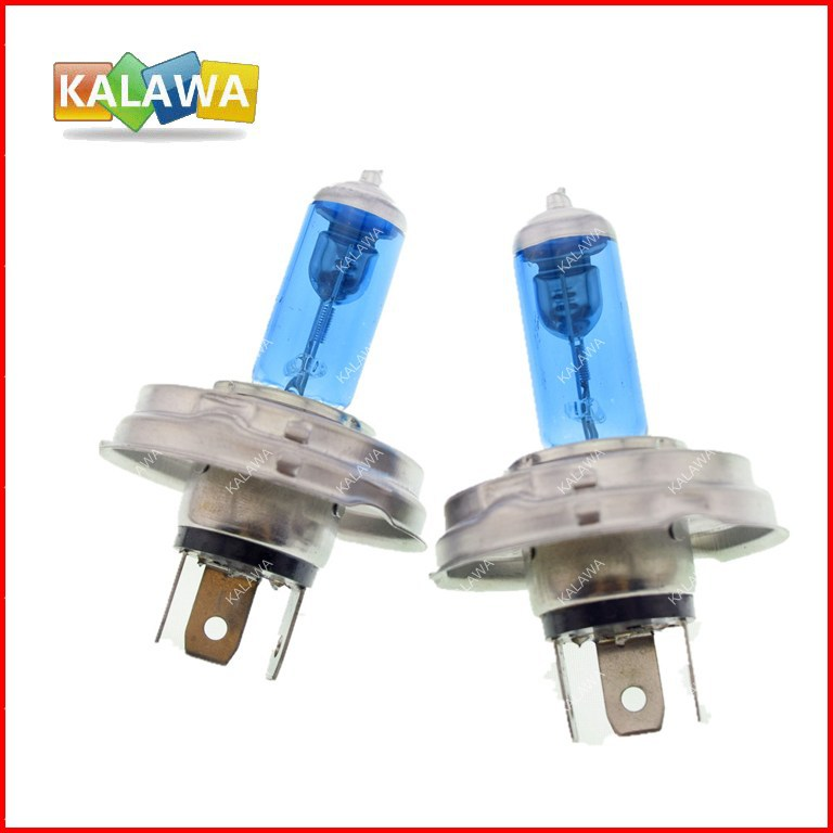 2PCS 12V 100/90W H4 P45T halogen bulb + xenon halogen light,fog lamps with bule glass fit for all cars freeshipping^GG04