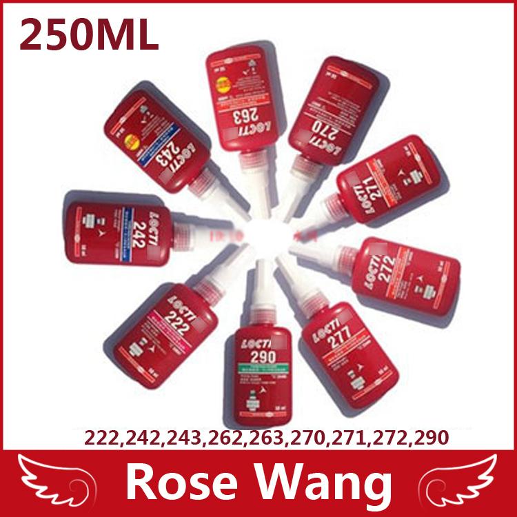 Free shipping 250ML LOCTIT 222,242,243,262,263,270,271,272,290 glue screw glue anaerobic adhesive Moderate intensity adhesive(China (Mainland))