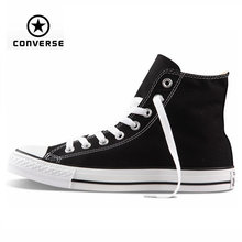 Original Converse all star shoes high men women's sneakers canvas shoes for men black high classic Skateboarding Shoes(China (Mainland))