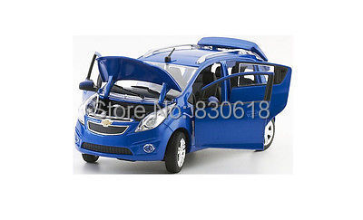 NIB 1/24 Norscot CHEVROLET DIeCast Model Car - Blue(China (Mainland))