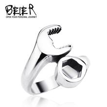 Nave de la gota caliente venta de titanio 316L acero inoxidable punky del motorista llave Man anillos de la joyería BR8-021(China (Mainland))