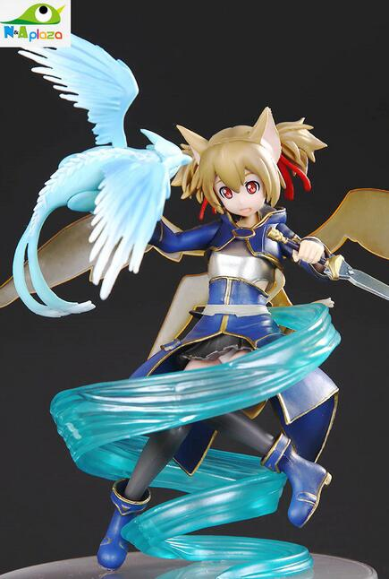 Anime Sword Art Online II silica 1/8 scale ALO Ver. PVC Action Sexy Figure Model Toy 18CM Free Shipping IN BOX<br><br>Aliexpress