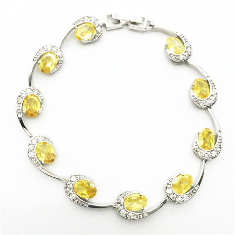 lady women fashion jewelry charm bracelets 10kt white gold