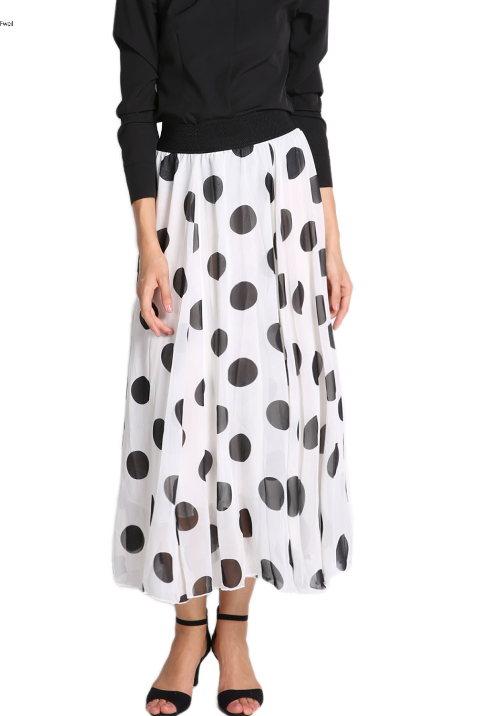 New 2014 Spring Summer Women Fashion Polka Dot Print Floor ...
