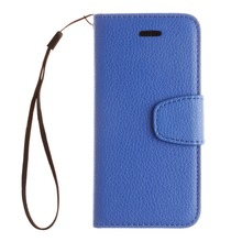 Mobile Phone Case Stand Style Magnet Flip Wallet Cover Back Solid Color Leather photo frame Soft TPU With Lanyard For iphone 5c