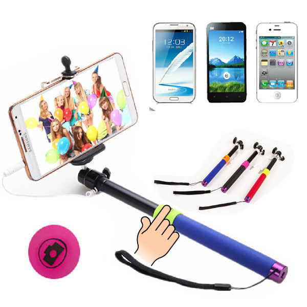 Z07-5 Plus 2 in 1 Wired Selfie Stick Handheld Extendable Monopod For iPhone Android Smart Phone No need to connect Bluetooth(China (Mainland))