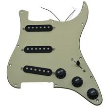 KAISH שונים טעון Strat SSS Pickguard Prewired ST Strat Pickguard עם טנדרים מתאים לפנדר(China)
