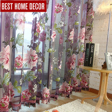 Best home decor drapes sheer window curtains for living room the bedroom kitchen modern tulle curtains window treatment blinds(China (Mainland))