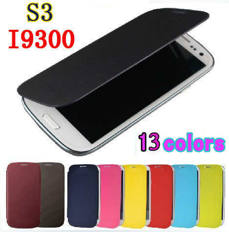 Flip Leather Back Cover Original Battery Housing Case Protector Holster Shell For Samsung Galaxy S3 I9300 S3 Neo I9300i S3 Duos(China (Mainland))