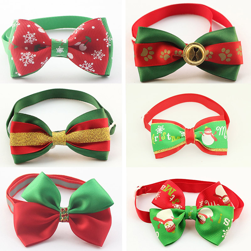 50 Pcs/Lot Mix Style! dreambows Handmade Christmas Dog Bow Tie Dogs Festival Tie 11038 Pet Accessories Wholesale(China (Mainland))