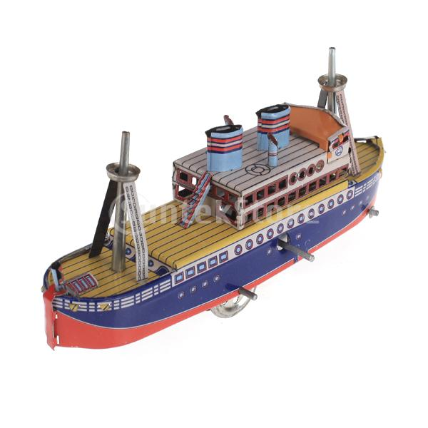 Free Shipping Wind Up Passenger Ship Model Toy Collectible Gift w/ Key(China (Mainland))