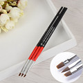3Pcs set UV Gel Crystal Brush Set Nail Art Pen Brush Salon Manicure Nail Pen Brush