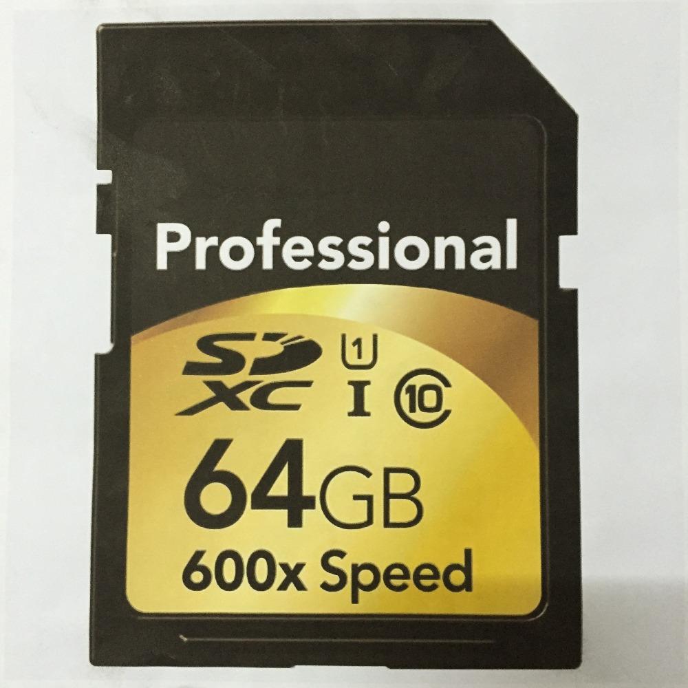 Wholesale full capacity professional SDHC SDXC SD memory card 16gb 32gb 64gb 128gb 600X Class 10 speed(China (Mainland))