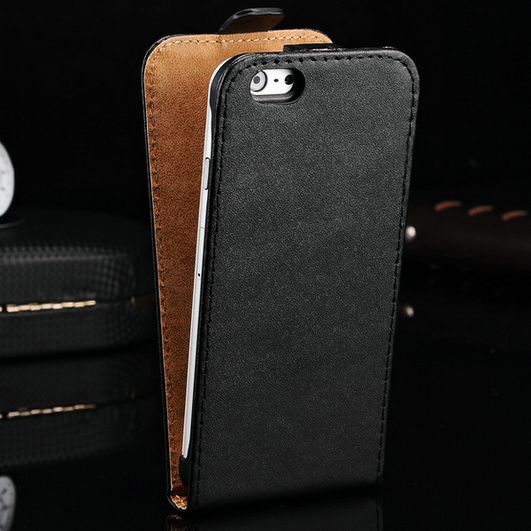 100 pcs/lot Flip Genuine Leather Case For iPhone 6 Plus 5.5 Inch Mobile Phone Back Cover Brand New Wholesale DHL