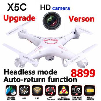 2015 новый X5C-1 2.4 г Quadcopter дистанционного управления вертолета X5C провел расширение 8899 дрон с HD камера без головы режим и автоматический возврат