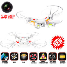 X-5 RC Quadcopter 2.4G 4CH 6-Axis Professional Aerial Drone, RC Helicopter, 2.0 MP HD Camera 2GB SD Card Take Picture Video