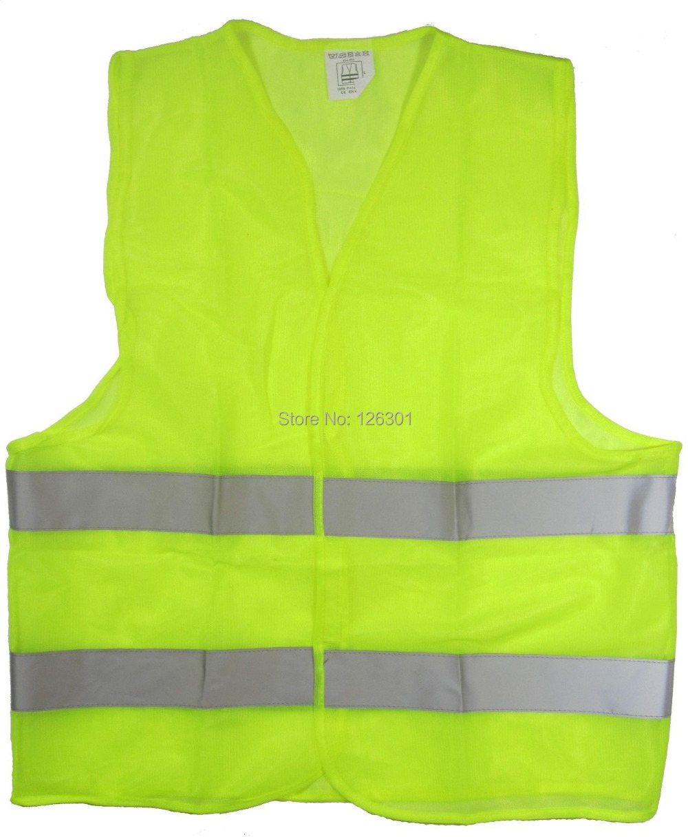 "Reflective Safety Vest Yellow w/ 2"" Strips for Construction Traffic & Warehouse & Night Activity &Cycling(China (Mainland))"