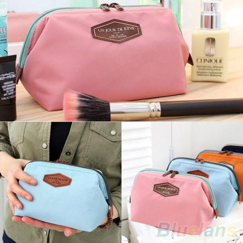 Portable Cute Multifunction Beauty Travel Cosmetic Bag Makeup Case Pouch Toiletry 1QBL 3P1N(China (Mainland))