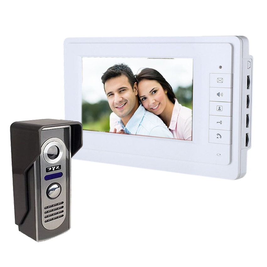 7`` TFT Color Wired Video Door Phone Audio Visual Intercom Entry System For House Villa Speakerphone intercom(China (Mainland))