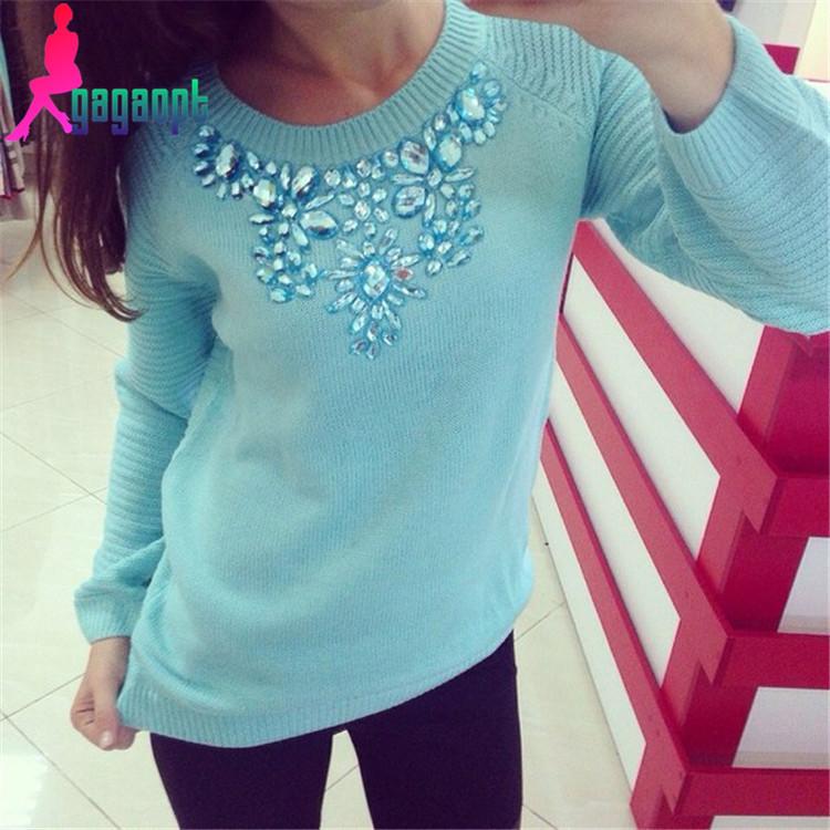 Modno 2015  New Retro  Pattern Twist  Sweat Women Round Neck Long Sleeve Basic Solid Lady Sweaters Pullovers Top free shipping(China (Mainland))