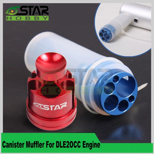 6 Star Hobby Brand Canister Muffler For DLE20 CC Gas Engine Free Shipping(China (Mainland))