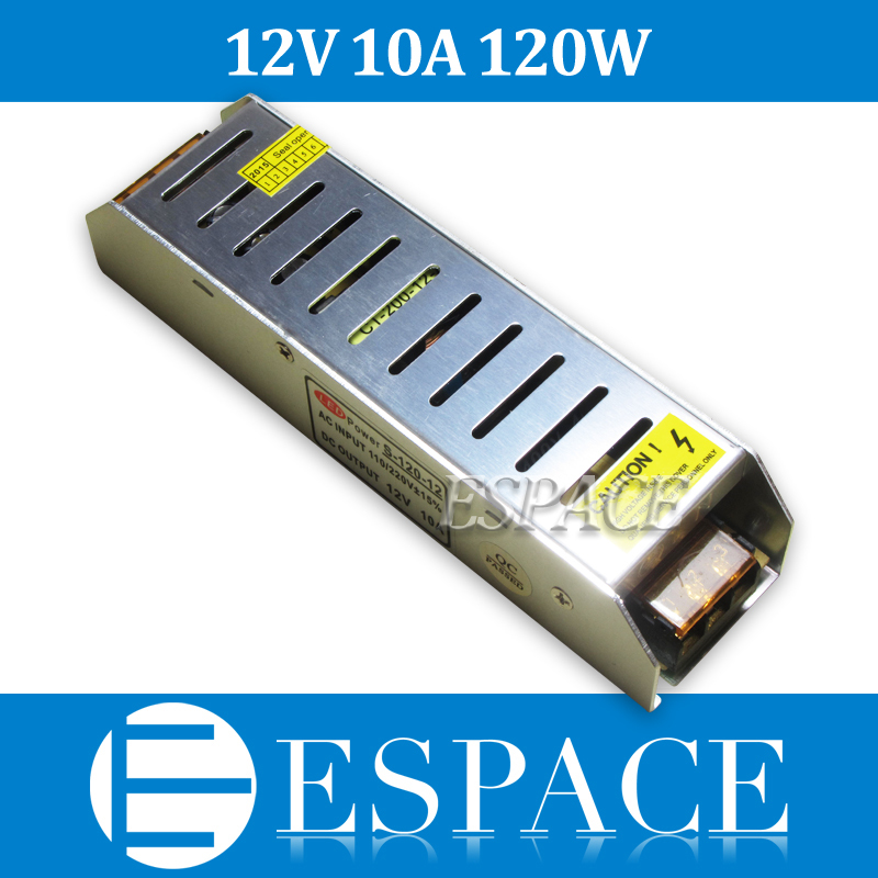 New arrival high quality 12V 10A 120W Switching Power Supply Driver for LED Strip AC 100-240V Input to DC 12V free shipping(China (Mainland))