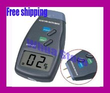 1pc free shipping Digital Moisture Meter Wood Firewood Damp Tester 2-Pin