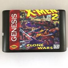 Game Cartridge – X Man 2 USA/EUR Case for 16 bits Sega Genesis Megadrive Console System