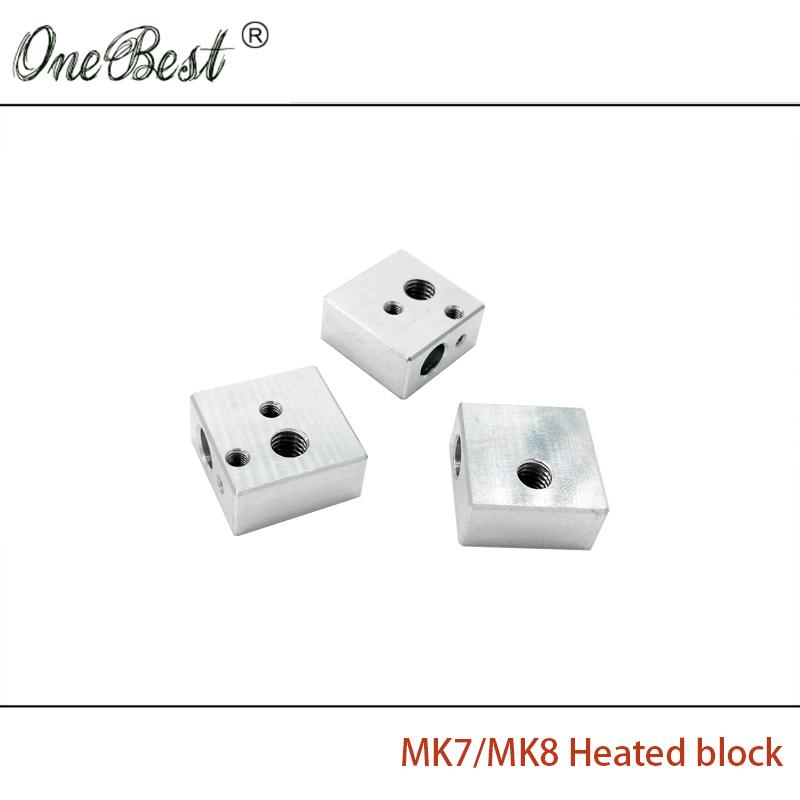 3Pcs MK8 Heated block 3D printer accessories heating block Makerbot MK7 dedicated printhead heated aluminum block Free shipping(China (Mainland))