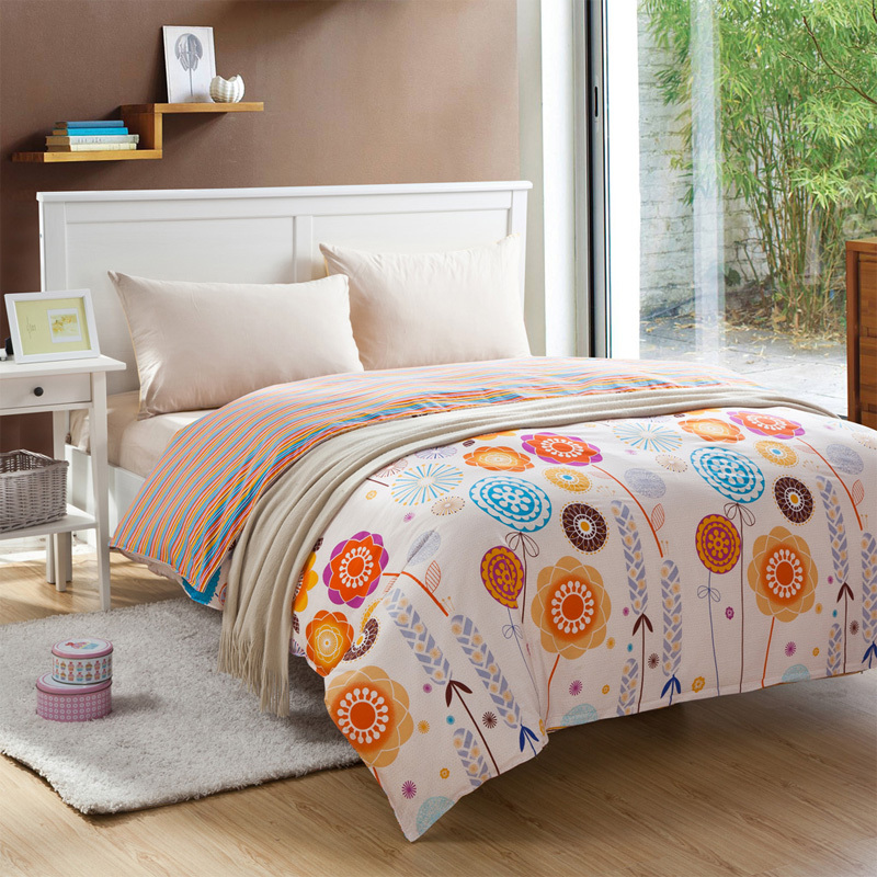 cotton bed sheets sunflowers comforter sets white ...