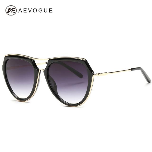 Aevogue женские солнцезащитные очки последним летом стиль ретро точка вождения очки сплава храм солнцезащитные очки UV400 óculos De Sol AE0326