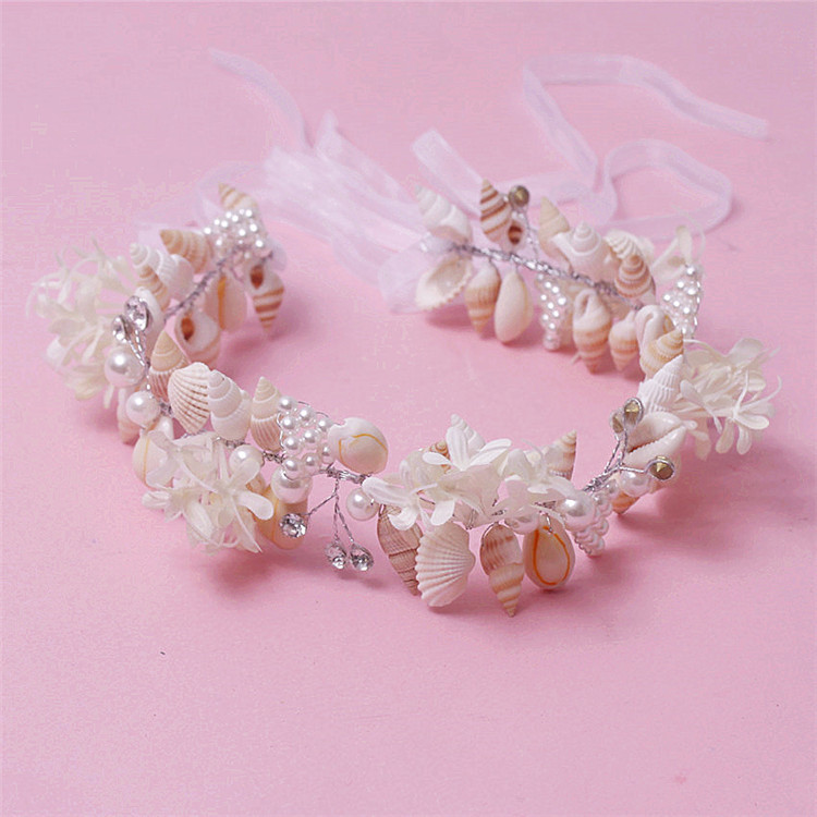 Bridal hair jewellery shell hair accessories chain tiara crown quinceanera tiara parure bijoux mariage(China (Mainland))