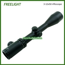 3-12×50 tactical hunting shooting riflescope in stock. Airsoft rifle gun scope Red Dot Illuminated Reticle, multi coated lens