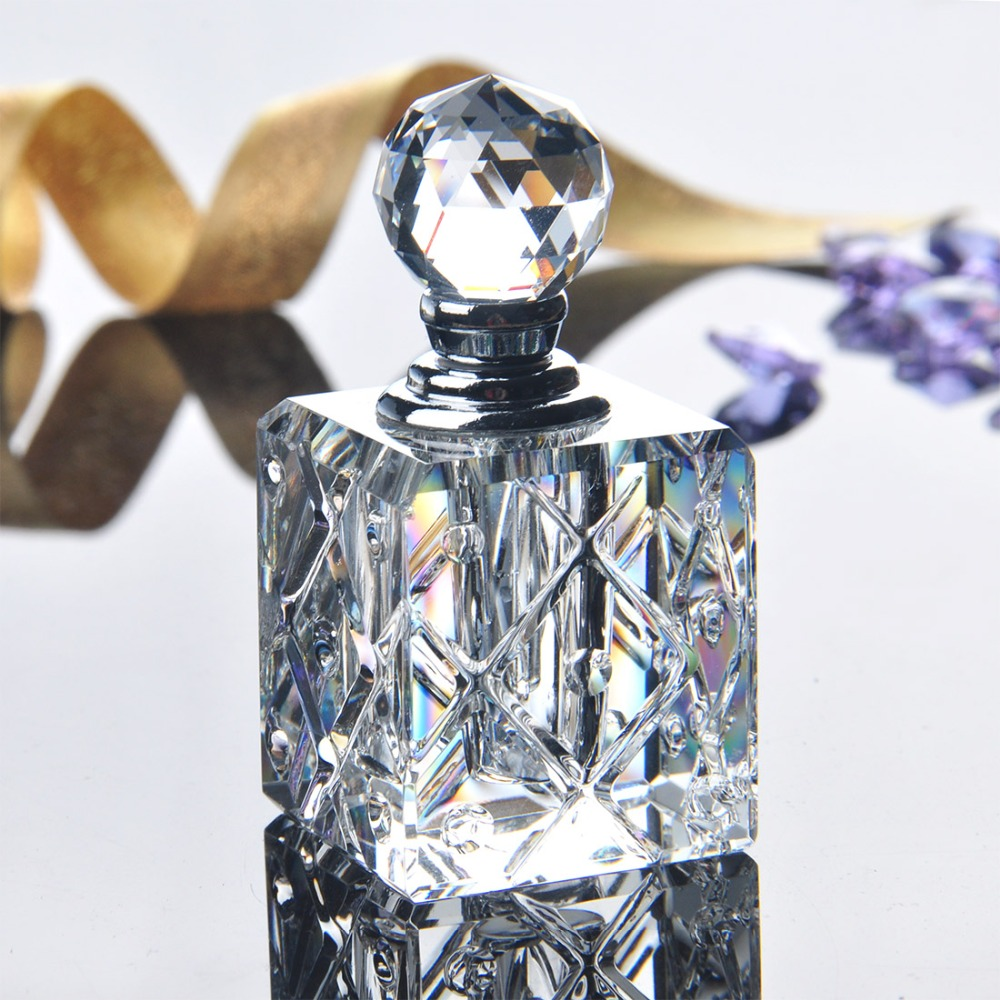 Refillable Perfume Bottle Macy S: 5ML Clear Unqiue Crystal Glass Crystal Women Perfume Bottle Empty Refillable Container Travel